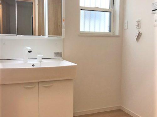 洗面台と洗濯機置場(内装)